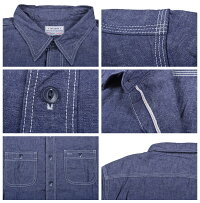 トゥームーン(TwoMoon)シャンブレーワークシャツ721