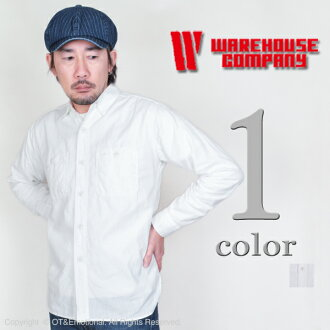 服裝房屋(WAREHOUSE)howaitoshambureshatsu 3076W