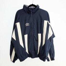 【中古】UMBRO アンブロ  ナイロントラックジャケット サイズ:L カラー:ネイビー【f101】