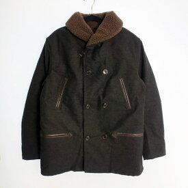 【中古】AT DIRTY アットダーティー HEAVY BOA COAT ボアコート  サイズ:M カラー:ブラック【f096】
