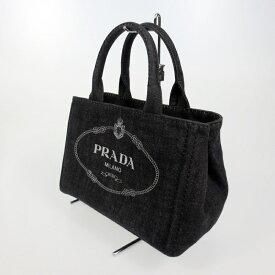【中古】PRADA プラダ CANAPA 2wayハンドバッグ 1BG439 カラー:ブラック【f122】