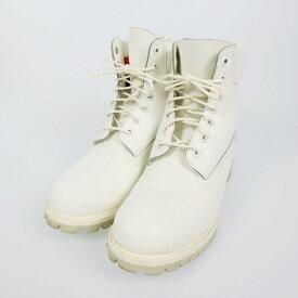 【中古】Timberland ティンバーランド ICON 6Inch PREMIUM BOOT ブーツ サイズ:27.5 カラー:ホワイト【f127】
