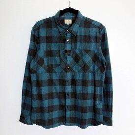 【中古】LANVIN en Bleu ランバンオンブルー Block Check Long-sleeve Flannel Shirt 2015AW 長袖ネルシャツ サイズ:50 カラー:【f102】