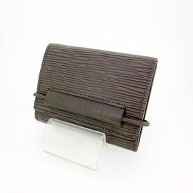 【中古】LOUIS VUITTON ルイ・ヴィトン エピ ポルトモネエラスティック 三つ折り財布 M6366B 【f125】