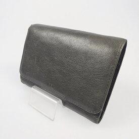 【中古】REN レン レザー二つ折りホック財布 【f124】