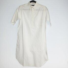 【中古】INDIVIDUALIZED SHIRTS インディビジュアライズドシャツ 半袖 シャツワンピース  サイズ:14.5 カラー:ホワイト / インポート【f112】
