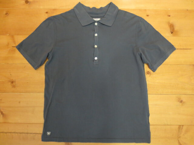 【中古】W)TAPS/ダブルタップス 半袖ポロシャツ サイズ:M カラー:ブルー系