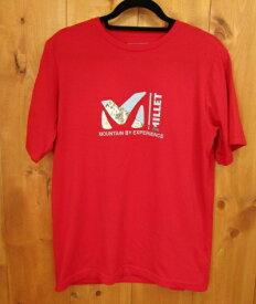 【中古】MILLET ミレー 半袖Tシャツ  サイズ:US M カラー:レッド / アウトドア【f100】
