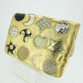d3f8d0253309 【中古】TSUMORI CHISATO ツモリチサト コンパクトウォレット 財布 サイズ: カラー:ゴールド【f124