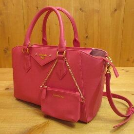 【中古】Samantha Vega サマンサベガ ポーチ付き トートバッグ 2Wayバッグ サイズ: カラー:ピンク【f121】