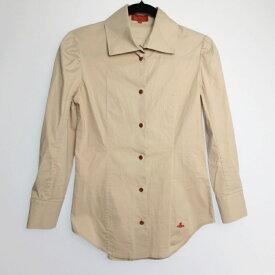 【中古】Vivienne Westwood RED LABEL ヴィヴィアンウエストウッド レッドレーベル 長袖 シャツ サイズ:2 カラー:ベージュ / インポート【f112】