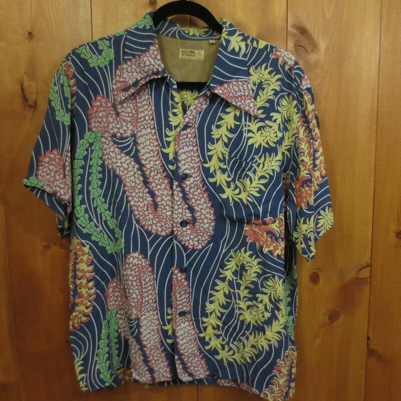 【中古】KEONI OF HAWAII ケオニオブハワイ 半袖シャツ アロハシャツ 総柄 サイズ:M カラー: / アメカジ【f101】