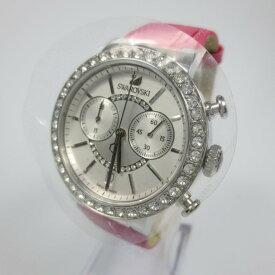 【中古】SWAROVSKI スワロフスキー 腕時計 リストウォッチ サイズ:- カラー:ピンク×ホワイト【f131】