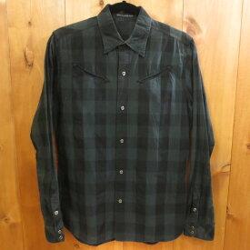【中古】HYSTERIC GLAMOUR/ヒステリックグラマー 長袖 シャツ サイズ:M カラー:グリーン×ブラック / ドメス【f104】