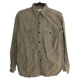 【中古】WAREHOUSE ウェアハウス 長袖 ワークシャツ サイズ:36 カラー:グレー / アメカジ【f101】