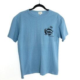 【中古】STUDIO D'ARTISAN ステュディオダルチザン 半袖 Tシャツ サイズ:M カラー:ブルー系 / アメカジ【f104】
