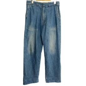 【中古】Lee リー ワイドトラウザー パンツ サイズ:S カラー:ブルー系 / アメカジ【f107】
