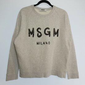 【中古】MSGM エムエスジーエム スウェット トレーナー サイズ:M カラー:グレー / インポート【f108】