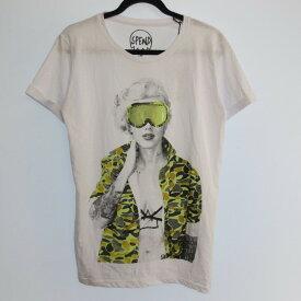 【中古】SPEND スペンド 半袖 Tシャツ サイズ:L カラー:ホワイト / インポート【f102】