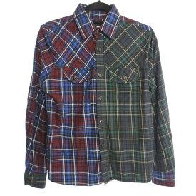 【中古】DIESEL ディーゼル クレイジーパターン 長袖 チェック シャツ サイズ:S カラー:- / インポート【f102】