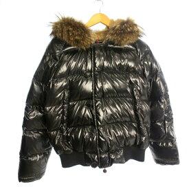 【中古】MONCLER モンクレール BULGARIE ダウンジャケット サイズ:1 カラー:ブラック / インポート【f108】