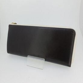 【中古】Leather-g レザージー L字 ラウンドファスナー 長財布 ウォレット サイズ:- カラー:ブラウン【f124】