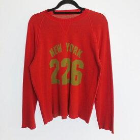 【中古】lucien pellat-finet ルシアンペラフィネ セーター ニット サイズ:S カラー:レッド【f108】