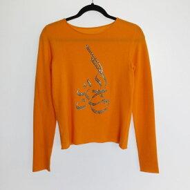 【中古】lucien pellat-finet ルシアンペラフィネ セーター ニット サイズ:S カラー:オレンジ【f112】