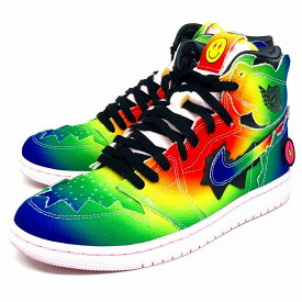 【中古】NIKE|ナイキ AIR JORDAN 1 RETRO HIGH OG RAINBOW/J BALVIN/スニーカー/DC3481-900 MULTI-COLOR/BLACK-PINK FOAM-MULTI-COLOR サイズ:27【f126】