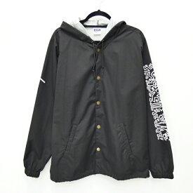 【中古】SHIPS×Keith Haring/シップス×キースヘリング コーチジャケット サイズ:L カラー:ブラック / セレクト【f091】
