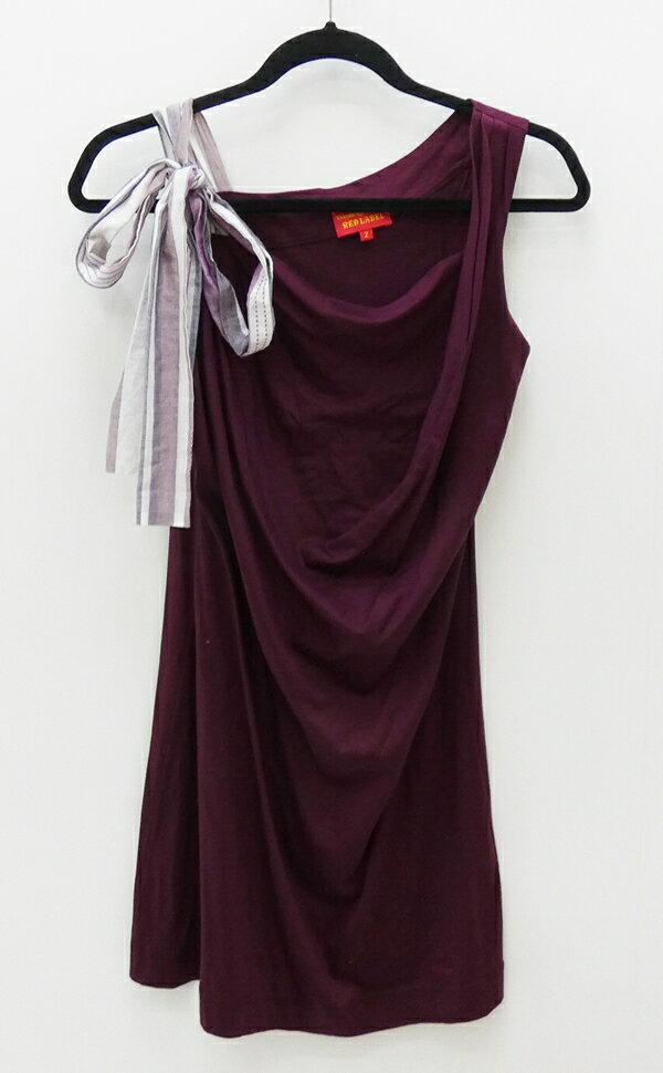 【中古】Vivienne Westwood RED LABEL/ヴィヴィアンウエストウッドレッドレーベル ノースリーブワンピース サイズ:2 カラー:ワインレッド系 / インポート【f112】
