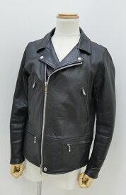 【中古】UNDERCOVER/アンダーカバー 2012A/W ダブルレザーライダースジャケット サイズ:3 カラー:ブラック / ドメス