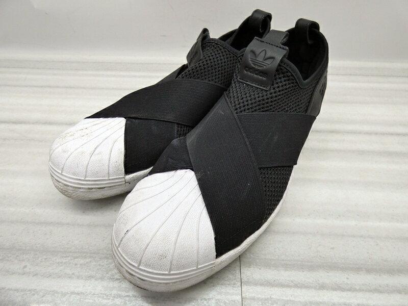 【中古】adidas/アディダス BY2884 SUPERSTAR SLIPON W スーパースタースリッポンスニーカー サイズ:28cm カラー:ブラック【f126】
