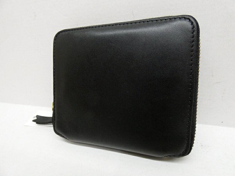 【中古】COMME des GARCONS/コムデギャルソン ラウンドファスナー財布 カラー:ブラック【f124】