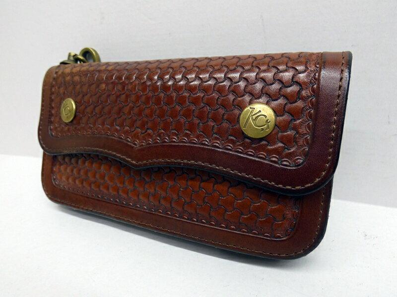 【中古】KC,s/ケイシイズ 二つ折り長財布 カラー:ブラウン【f124】