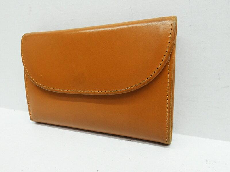 【中古】Whitehouse Cox/ホワイトハウスコックス 三つ折り財布 カラー:キャメル【f124】