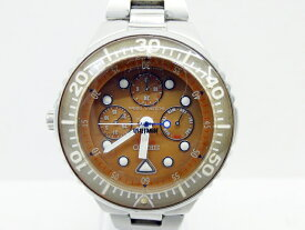【中古】SEIKO/セイコー 腕時計 SCUBA 100 スキューバ オレンジ×シルバー クォーツ ステンレススティールベルト【f131】