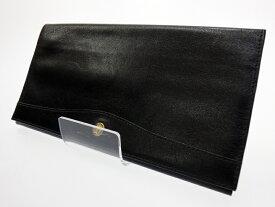 【中古】GOLD PFEIL/ゴールドファイル 二つ折り財布 カラー:ブラック【f124】