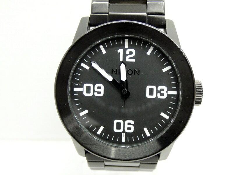 【中古】NIXON/ニクソン 腕時計 PRIVATE ブラック×ブラック クォーツ その他ベルト【f131】