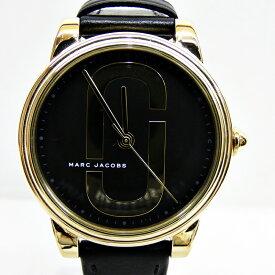 【中古】MARC JACOBS/マークジェイコブス 腕時計 MJ1578 ブラック×ブラック クォーツ 革(レザー)ベルト【f131】