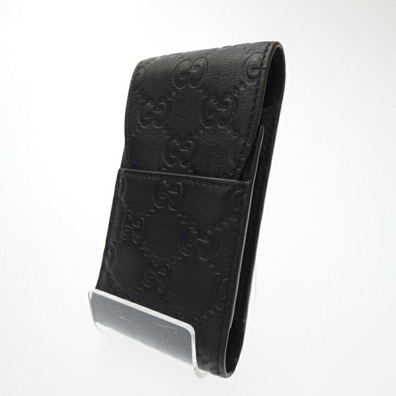 【中古】GUCCI/グッチ シガレットケース サイズ:- カラー:ブラック【f125】