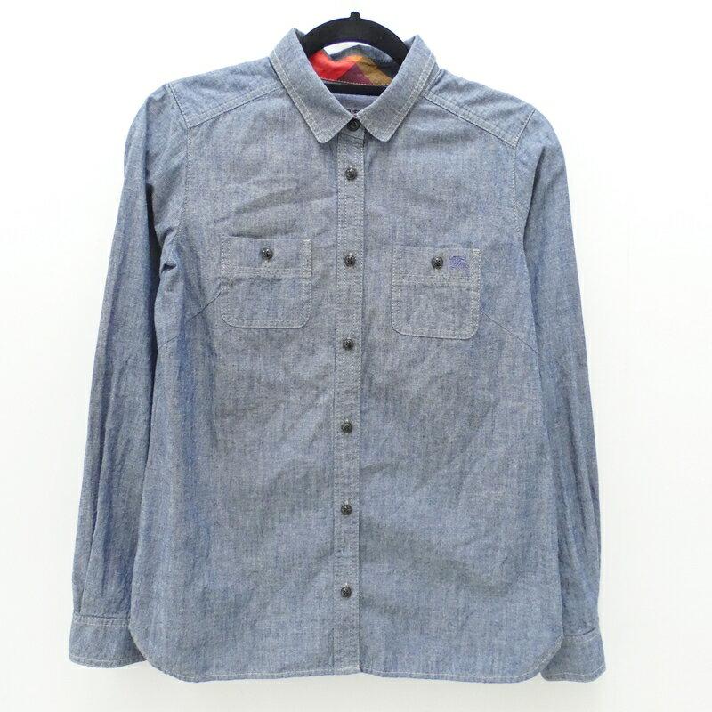 【中古】BURBERRY BLUE LABEL/バーバリーブルーレーベル 長袖シャツ サイズ:38 カラー:ブルー / インポート【f112】