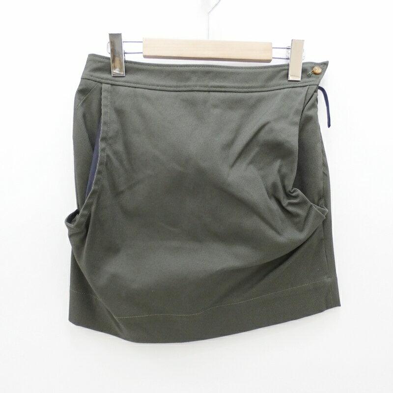 【中古】Vivienne Westwood RED LABEL/ヴィヴィアンウエストウッド スカート サイズ:40 カラー:グリーン / インポート【f112】