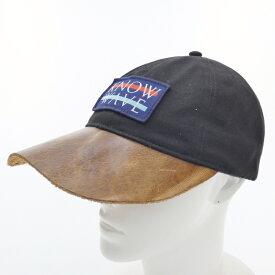 c779ec8851b 中古  中古 KNOW WAVE ノーウェーブ Leather BrimBBC キャップ サイズ:- カラー:ブラック f118
