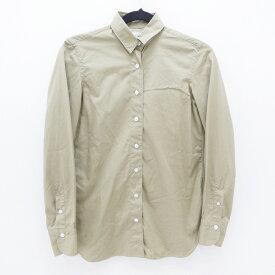 【中古】Finamore Napoli/フィナモレ L/Sシャツ サイズ:40 カラー:カーキ【f112】