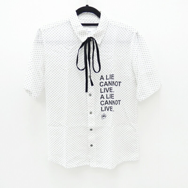 【中古】SHAREEF/シャリーフ 2014年モデル SMALL DOT DRAWCORD S/S SHIRTSS/Sドットシャツ サイズ:2 カラー:ホワイト【f104】