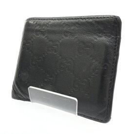 4791de3a9ea1 中古 【中古】GUCCI/グッチ 二つ折り財布 サイズ:- カラー:ブラック【f125】