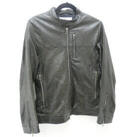 【中古】VADEL/バデル ラムレザーシングルライダースジャケット サイズ:44 カラー:ブラック【f096】
