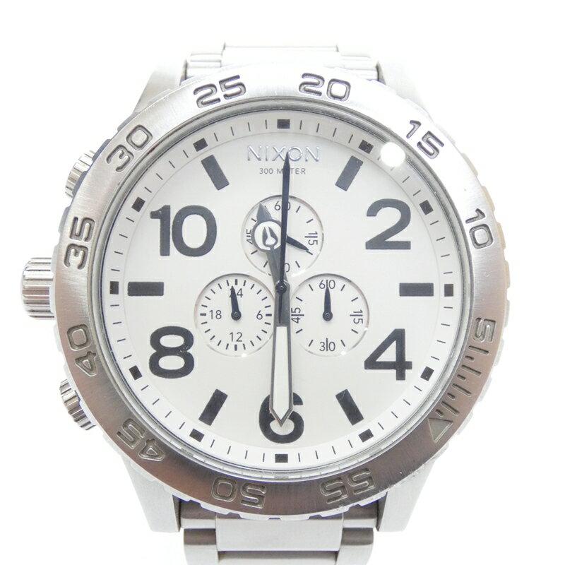 【中古】NIXON/ニクソン 腕時計 51-30 クォーツ ステンレススティールベルト サイズ:- カラー:ホワイト(文字盤)×シルバー(ベルト)【f131】