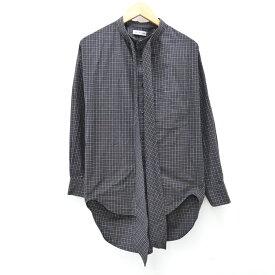 【中古】BALENCIAGA/バレンシアガ 520497 ニュースウィングシャツ L/Sシャツ サイズ:34 カラー:ブラック【f135】